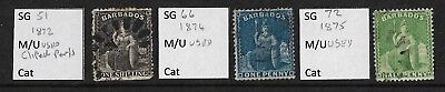 Stamps. Barbados. QV. Small lot. Used.