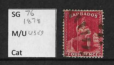 Stamps. Barbados. QV. Used. SG76