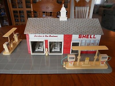 Vintage 1970 Tin Lithograph Shell Turnpike Service Station, RARE, Hard to Find