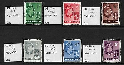 Stamps. Virgin Islands. KGVI. Small lot. Used.