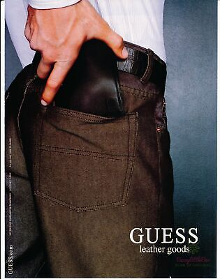 Print Ad~2000~Guess~Leather Goods~Wallet~Pocket~Advertisement~H600