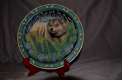 """The Gray Rock Collection""  Amy & Addy 3D Brown Bear Plate 7 1/2"" Gorgeous!"