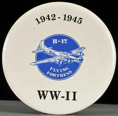 Vintage Thomas Tiles Inc Drink Coaster With Wwii B-17 Bomber Tribute 1942 - 1945