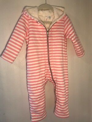 NWT Hanna Andersson 2 in 1 Reversible Bunting Size 80 (18-24M) Pink/White OP $78
