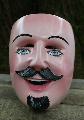 "Traditional Newly made ""Bartolo"" Hand Carved Wood Mask Michoacán Mexico Folk Art"