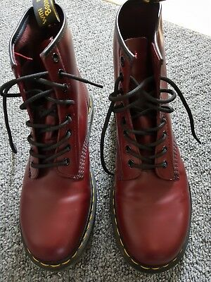 Dr Martens Cherry Red 1406 boots Size 7 - Unisex