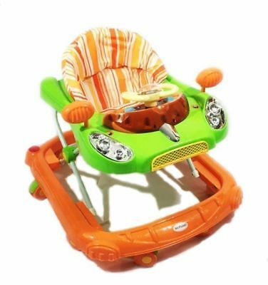 Baby Walker pink Activity First Steps Music Melody Toy Car 3 Heights Bright Car#