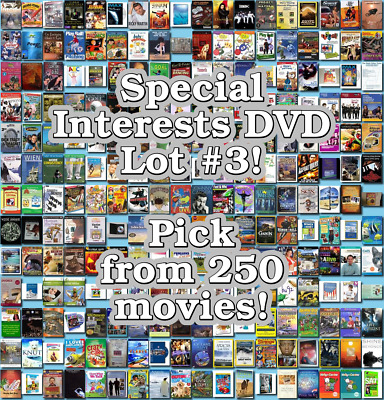 Special Interests DVD Lot #3: DISC ONLY - Pick Items to Bundle and Save!