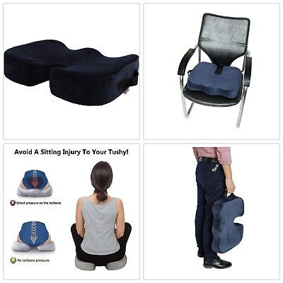 Memory Foam Car Seat Cushion Orthopedic Padded for Back Support Sciatica Relief