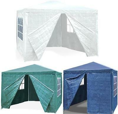 2mx2m WATERPROOF OUTDOOR GARDEN GAZEBO PARTY TENT MARQUEE CANOPY MULTI COLOURS