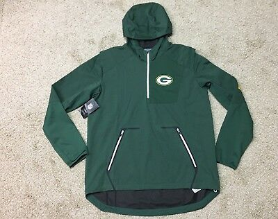 the best attitude c492b 771e8 Nike Mens Large Alpha Fly NFL Green Bay Packers 1 4 Zip Pullover 836974 323