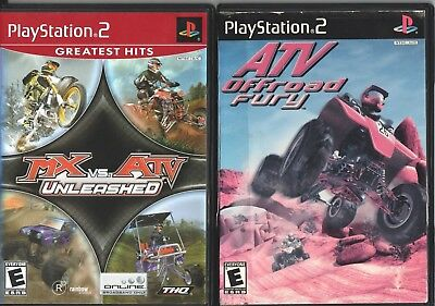 Video Game Lot - OFFROAD 2-PACK ATV Offroad Fury / MX vs. ATV - PlayStation 2