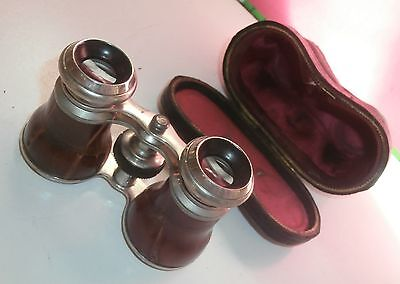 Antique Binoculars  Opera Glasses  Fitted Case  Very Nice Quality