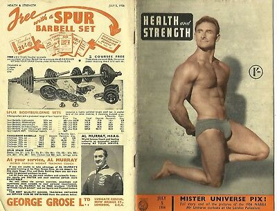 Health and Strength 5th July 1956 Jack Delinger / Perry Blake / Jim Allan