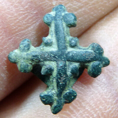 Awesome Medieval Heraldic Harness Horse Pendant Antique Cross Templar