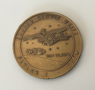 USA Medaille Project Skylab 1 Crew Conrad Kerwin Weitz - May 25 1973, NASA Space