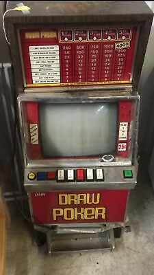 Vintage Bally Video Draw Poker Slot Machine - Collectible