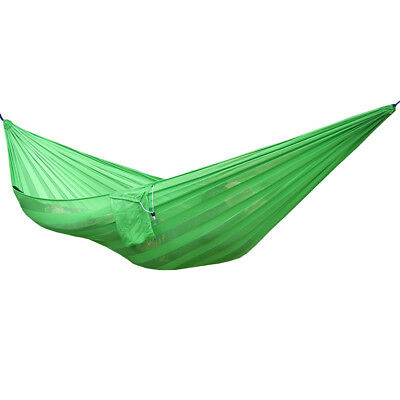 Camping Travel Outdoor Hanging Hammock Bed Sleeping Swing Tree Strap Green