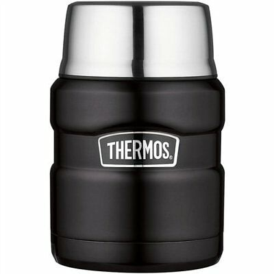Thermos Stainless Steel King Vacuum Insulated 16-Ounce Food Jar w/ Folding Spoon