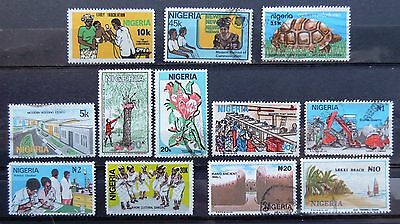 NIGERIA 1982, 1983, 1986, 1990, 1992 - Lot of 12 Used Stamps