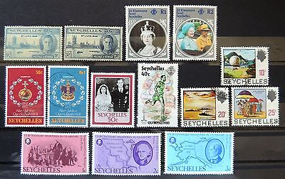 SEYCHELLES 1946, 1969, 1976, 1977, 1980, 1985, 1986 - Nr. 14 MINT & USED STAMPS