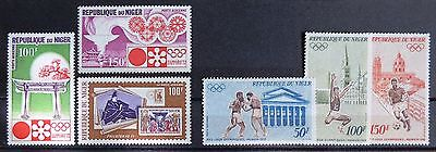 NIGER - 1971, 1972 - Airmail - Nr. 6 Mixed Mint