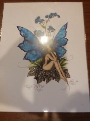 Amy Brown 1998 Forget Me Not Print 8x11-New! Never Opened! Free Shipping!