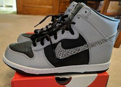 info for d0cba 7ad4f NIKE DUNK HIGH 2013 SNAKESKIN SNAKE 3M SILVER 624512-100 sz 10 SB Uncocoa