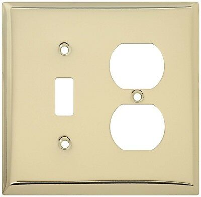 Stanley Home Designs (S832-642) Bright Brass Wall Plate - Lot of 9