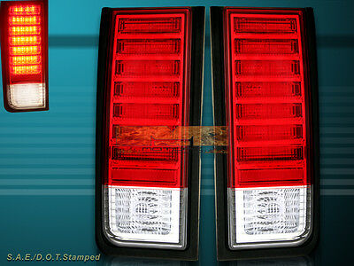 2003-2009 Hummer H2 Suv Red Led Tail Lights Rear Brake Lamps 04 05 06 07 08 New