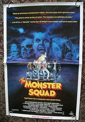The Monster Sqaud Original One Sheet Movie Poster 27x41 1988 Vestron Video