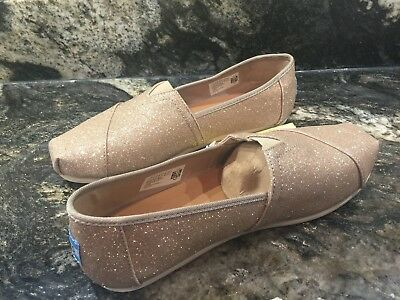 aa870dc45416 TOMS CLASSIC ROSE Gold Glimmer Shoes Size 6.5 New -  40.00