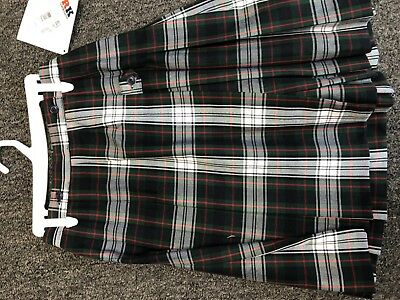 Girls school uniform skirt plaid