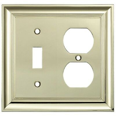 allen + roth (140272) Polished Brass Toggle-Duplex Combo Wall Plate - Lot of 2
