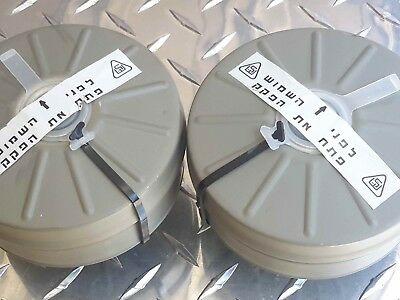 Israeli Gas Mask Filter [ 2-PAK !! ] 40mm NATO NBC & Riot Protection -New/Sealed