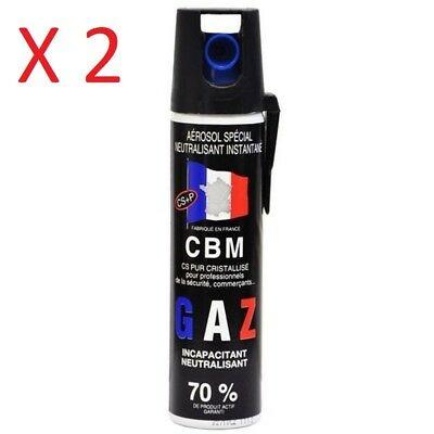 bombe de defense lacrymogène gaz 75 ml