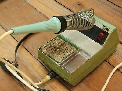 Vintage Weller WTCP Series Soldering Station w/ TC202 & Pencil Soldering Iron 60
