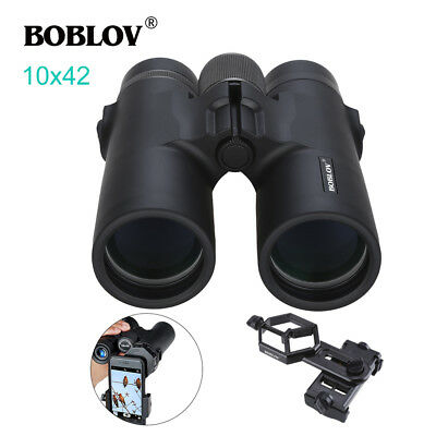 Boblov 10x42 Stargazing Binocular High Power Wide-Angle Telescope + Phone Mount