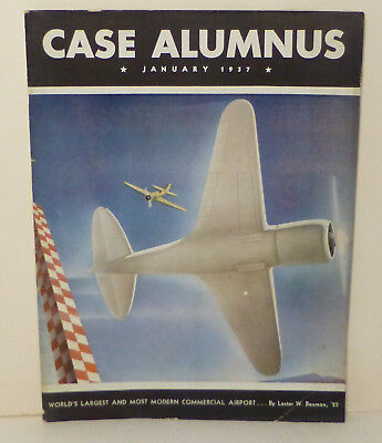 1937 Gulf Oil Airplane Color Cover Ad Streamline Moderne Art Deco Case 9 x 12