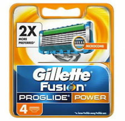 Gillette Fusion Proglide Power Razor Blades Brand New  4 pack Made In Germany