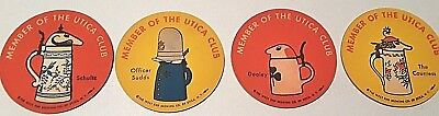 Utica Club Beer Schultz Dooley Officer Suds and The Countess 4 Piece Coaster Set