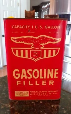 Vintage 1 Gal. Can E-Z Pour Gasoline Filler # 1001~Eagle Mfg. Wellsburg,W. Va