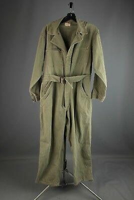 Vtg Men's 1940s 1950s Wear Well HBT Mechanic Coveralls 38 M 40s 50s #4800