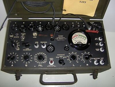 Vintage Signal Corps I-177 Tube Tester.working Very Clean