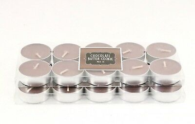20 pcs Chocolate Butter Cookie Tealight Candles
