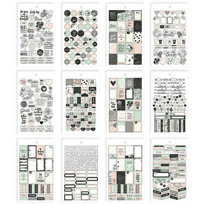 Simple Stories - Beautiful - Mini Sticker Pack - 559 Stickers  12 Pages