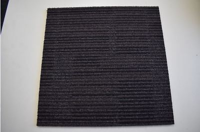 Interface Brown Stripped Padded Back Carpet Tiles