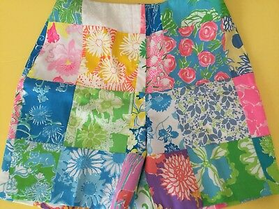 Vintage Lilly Pulitzer Patchwork The Lilly Bermuda Shorts Sz 10 0 2 4