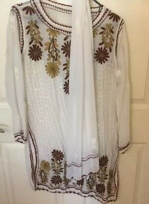 NWT - Prince Creation - Women's Indian Kurta With Scarf - Large