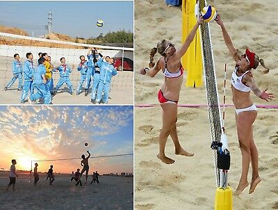 Volleyball Net Outdoor Sports Game Yard Beach Party BBQ Teen Adult Gift New